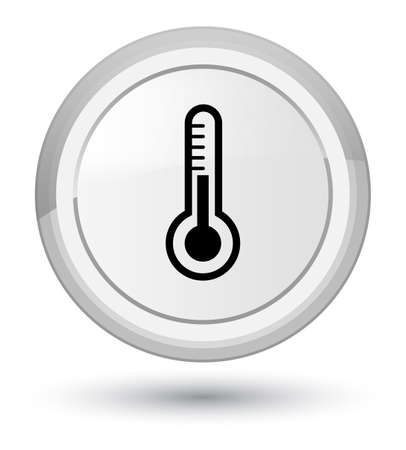 Thermometer icon isolated on prime white round button abstract illustration Stock Photo