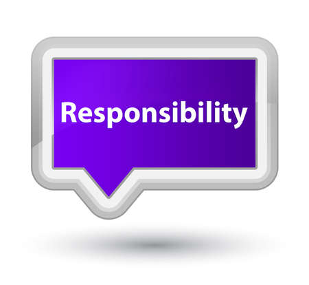 Responsibility isolated on prime purple banner button abstract illustration Stock Photo