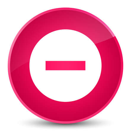 Cancel icon isolated on elegant pink round button abstract illustration