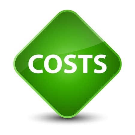 Costs isolated on elegant green diamond button abstract illustration Stock Photo