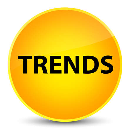 Trends isolated on elegant yellow round button abstract illustration