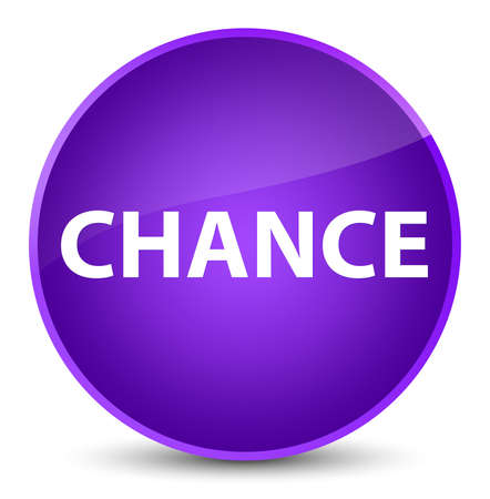 Chance isolated on elegant purple round button abstract illustration