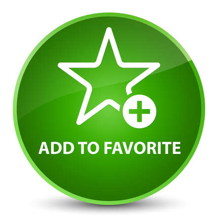 Add to favorite isolated on elegant green round button abstract illustration Stock Photo