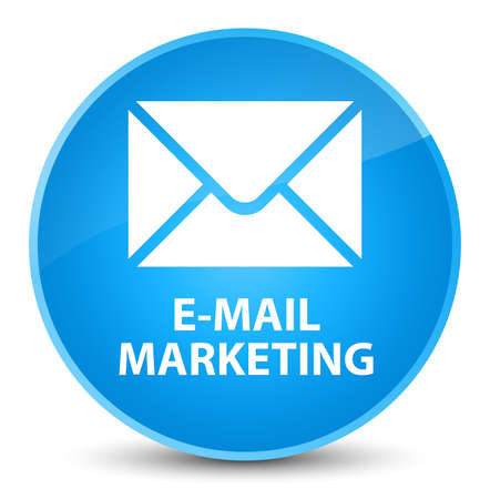 E-mail marketing isolated on elegant cyan blue round button abstract illustration