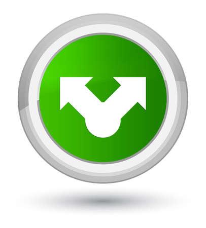 プライムの緑の丸いボタンの抽象的なイラストに分離された共有アイコン