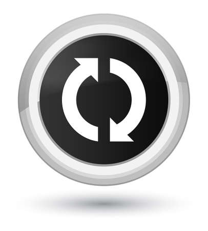 improving: Update icon isolated on prime black round button abstract illustration