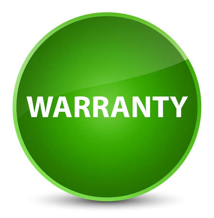 Warranty isolated on elegant green round button abstract illustration