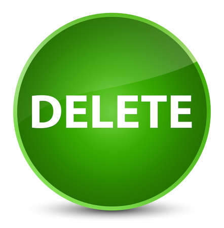 Delete isolated on elegant green round button abstract illustration Stock Photo