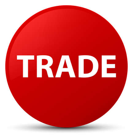 Trade isolated on red round button abstract illustration Stock Photo