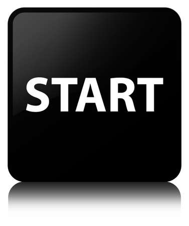 Start isolated on black square button reflected abstract illustration Stock Photo