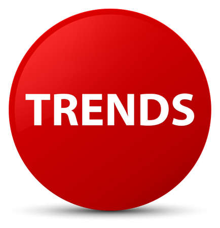 Trends isolated on red round button abstract illustration