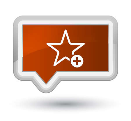 Add to favorite icon isolated on prime brown banner button abstract illustration Stock Photo