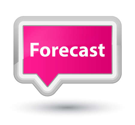 Forecast isolated on prime pink banner button abstract illustration Banco de Imagens