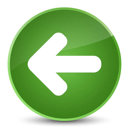Back arrow icon isolated on elegant soft green round button abstract illustration Stock Photo