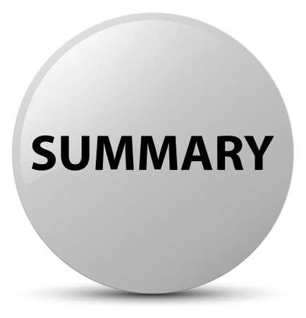 Summary isolated on white round button abstract illustration
