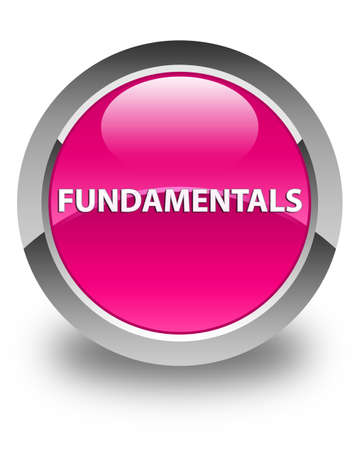 Fundamentals isolated on glossy pink round button abstract illustration