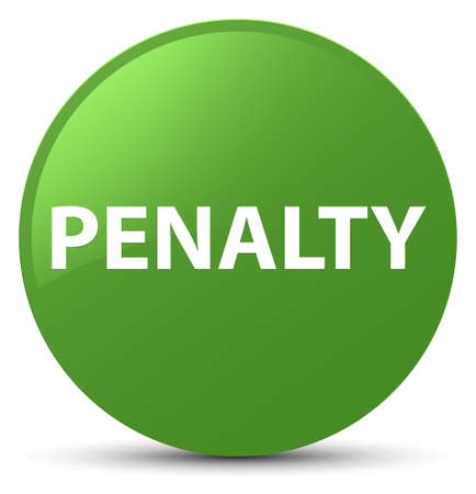Penalty isolated on soft green round button abstract illustration Stock Photo