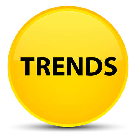 Trends isolated on special yellow round button abstract illustration Stock Photo
