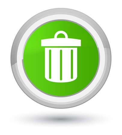 Recycle bin icon isolated on prime soft green round button abstract illustration