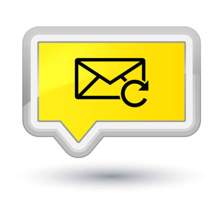 Refresh email icon isolated on prime yellow banner button abstract illustration