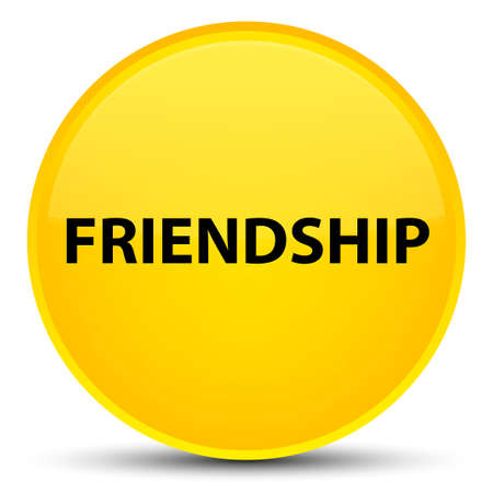 Friendship isolated on special yellow round button abstract illustration