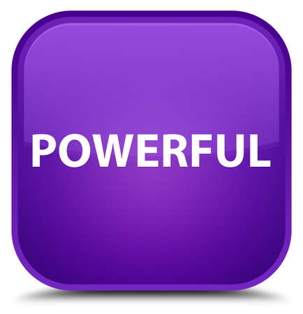 Powerful isolated on special purple square button abstract illustration