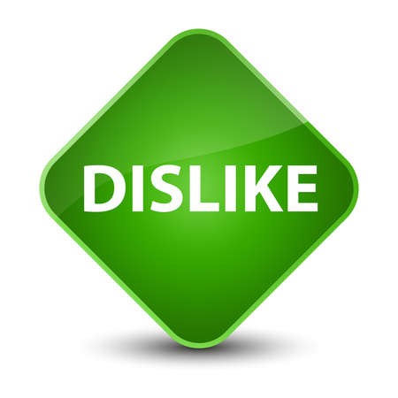 Dislike isolated on elegant green diamond button abstract illustration