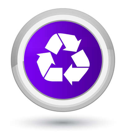 Recycle icon isolated on prime purple round button abstract illustration Stock Photo