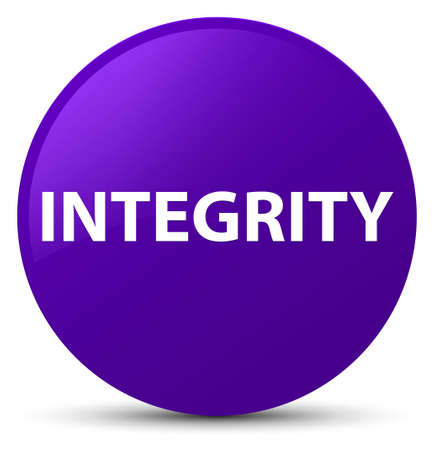Integrity isolated on purple round button abstract illustration