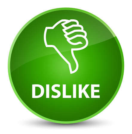 Dislike isolated on elegant green round button abstract illustration Stock Photo
