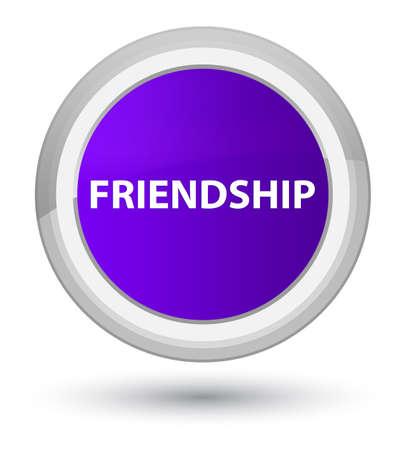 Friendship isolated on prime purple round button abstract illustration Reklamní fotografie