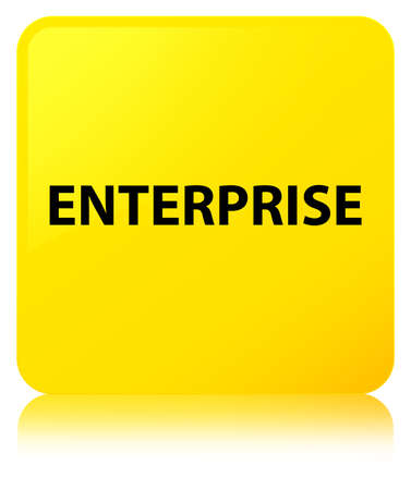 Enterprise isolated on yellow square button reflected abstract illustration Stok Fotoğraf