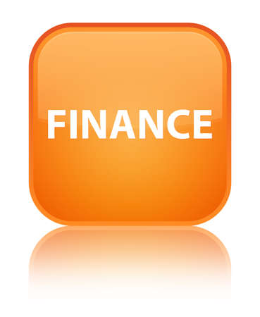 Finance isolated on special orange square button reflected abstract illustration Stock Photo