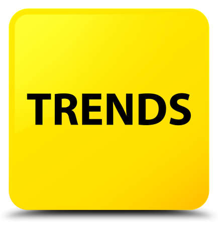 Trends isolated on yellow square button abstract illustration Stok Fotoğraf