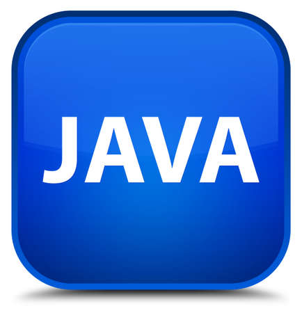 Java isolated on special blue square button abstract illustration