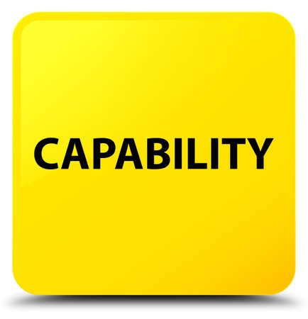 Capability isolated on yellow square button abstract illustration