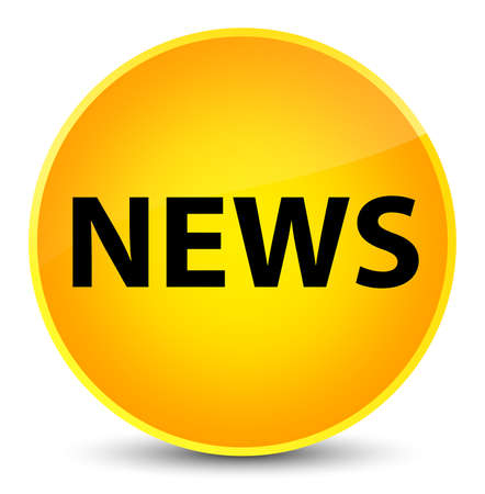 News isolated on elegant yellow round button abstract illustration
