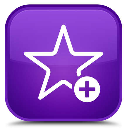 purple stars: Add to favorite icon isolated on special purple square button abstract illustration