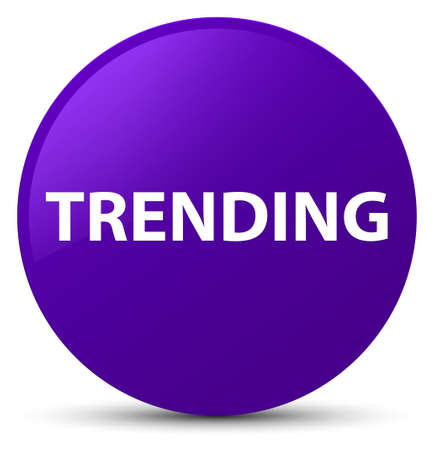 Trending isolated on purple round button abstract illustration