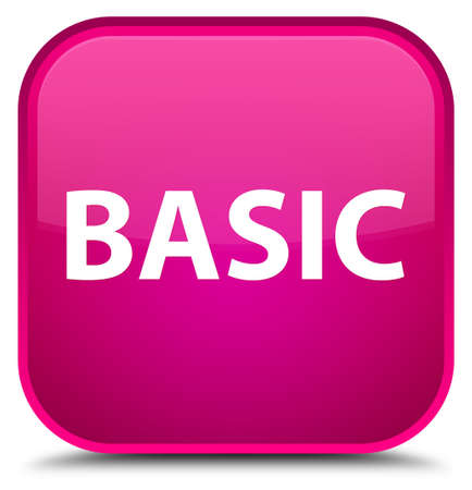 Basic isolated on special pink square button abstract illustration Фото со стока