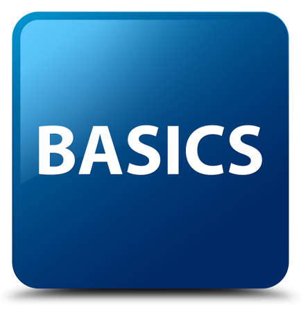 Basics isolated on blue square button abstract illustration
