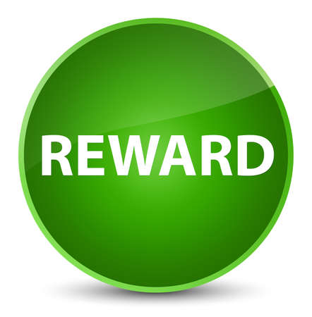 Reward isolated on elegant green round button abstract illustration Stock Photo