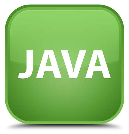 Java isolated on special soft green square button abstract illustration