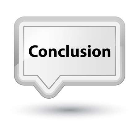 プライムの白いバナー ボタン抽象的なイラストに分離された結論