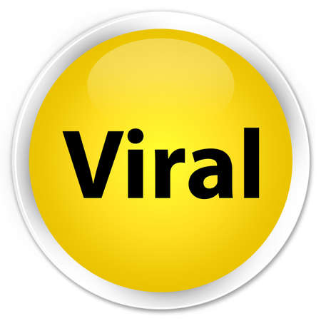 Viral isolated on premium yellow round button abstract illustration