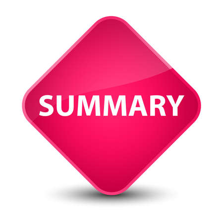 Summary isolated on elegant pink diamond button abstract illustration Stok Fotoğraf