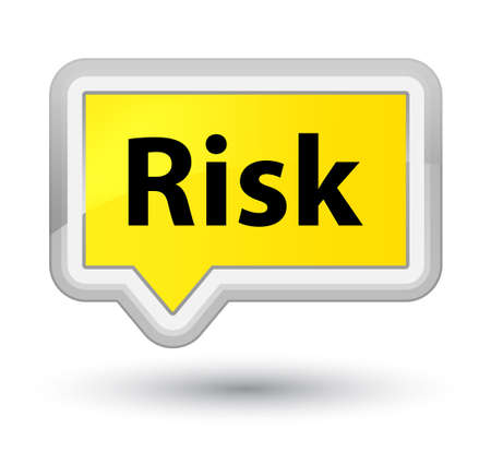 Risk isolated on prime yellow banner button abstract illustration