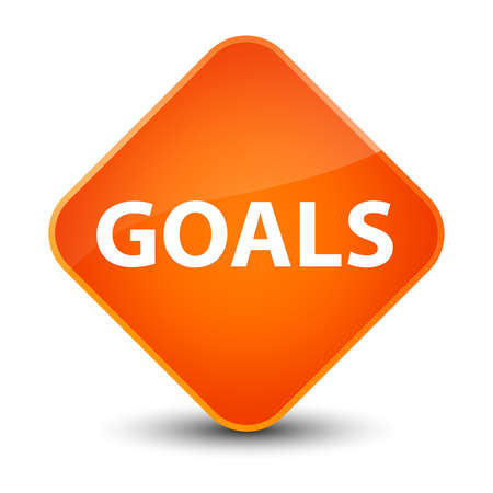 Goals isolated on elegant orange diamond button abstract illustration