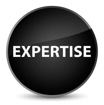 Expertise isolated on elegant black round button abstract illustration