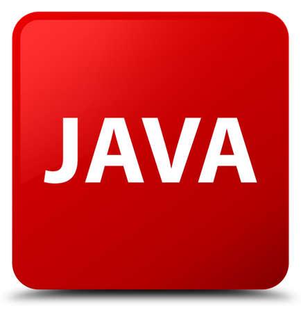 赤い正方形ボタンの抽象的なイラストに分離された Java 写真素材